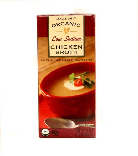 Trader Joe's Organic Low Sodium Chicken Broth 32 fl oz