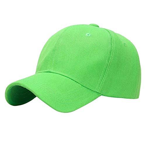 GUMONI - Gorra de béisbol de un solo color, disponible en 18 colores verde claro Talla única