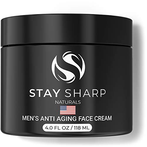 Anti Aging Face Cream for Men - 4oz Mens Facial Moisturizer - Natural Younger Looking Wrinkle Free Skin - Daily Moisturizing Mens Face Lotion - Advanced Skin Care for Men - Made in the USA