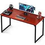 Coleshome 47 Inch Computer Desk Modern Simple Style Desk for Home Office, Study Student Writing Desk,Teak
