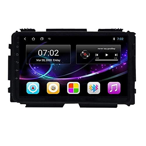 Android 10.0 Car Audio Stereo Head Unit Navegación GPS Soporta Bluetooth Voice Call WIFI Control del volante 1080P Video FM Radio, para Honda Vezel HRV 2015-2019, Quad core, 4G WiFi 1 + 32