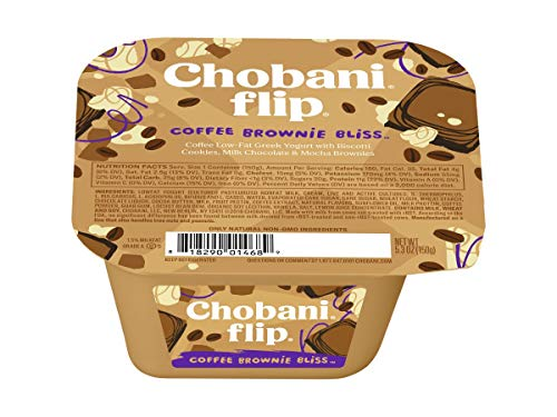 Chobani Flip Coffee Break Bliss Greek Yogurt, 5.3 Ounce -- 12 per case.