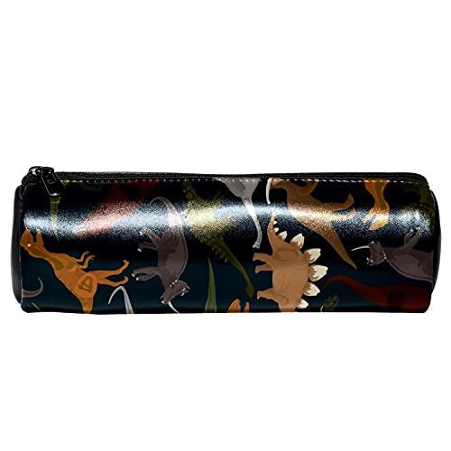 Estuche de lápices de dinosaurios oscuros para papelería, bolsa de almacenamiento, organizador de cosméticos para la escuela, adolescentes, niñas, niños, hombres y mujeres