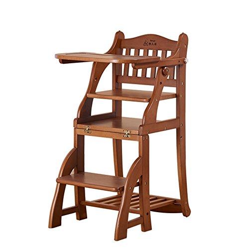 Brisk- Kinderstoel Effen Hout Multifunctionele Kan Zitten Vouwen Draagbare Baby Eet Diner Tafel Speelstoel