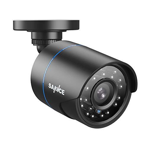 SANNCE 1080P 4-en-1 IP66 CCTV Cámara de Seguridad AHD/TVI/CVI/CVBS Cámara de Vigilancia Resistente Analógica Bala 2MP Interior/Exterior 100 pies Visión Nocturna Negro