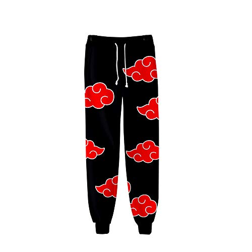 LILLIWEEN Naruto Sweatpants Joggers Pants 3D Anime Print Casual Sports Trousers with Drawstring S