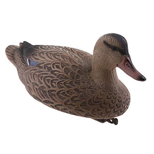 Kunststoff Lockvogel - Schwimmend Ente Köder Jagd Fischerei Garten Teich - 37cm Weibliche Ente
