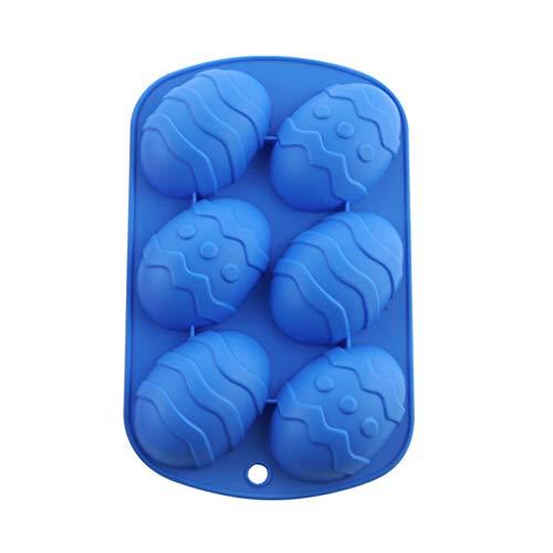 Hfior - Paaseitjes Mal, 6 Holtes Siliconen Vorm Chocoladevorm Cakevorm