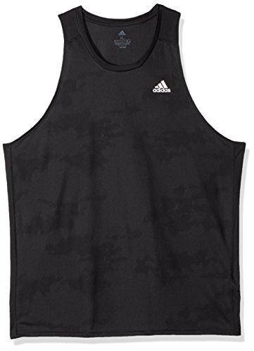 adidas Men's Running Response Singlet, Black, X-Large