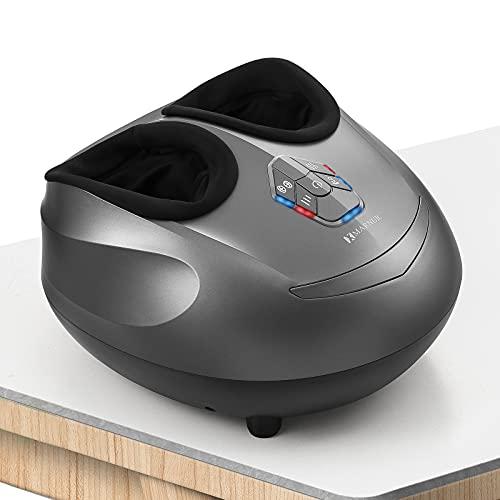 MARNUR Masajeador de Pies Shiatsu Masajeadores Eléctricos para Pies con Calor y Rodillos con la Función de Compresión de Aire en Casa u Oficina