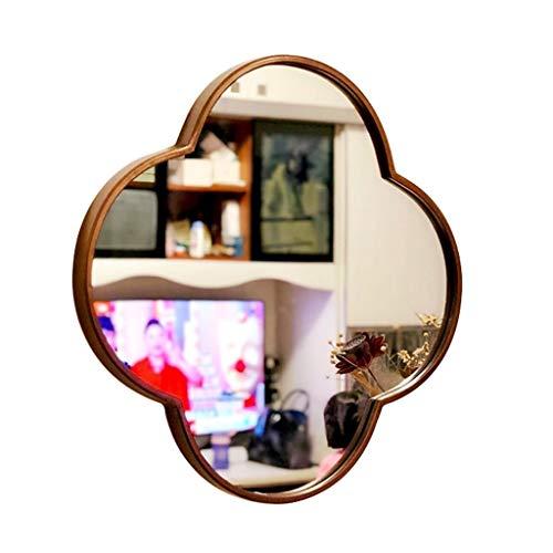 Espejos colgantes de afeitado para baño, tocador, marco de metal, espejo de pared, espejo de tocador, dormitorio, sala de estar, pasillo, decoración de pared (19.6 - 31.5 pulgadas)
