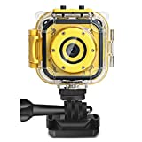 [Upgraded] Kids Action Camera, DROGRACE Waterproof Video Camera 1080P HD Camcorder for Boys