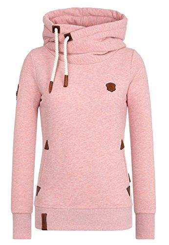 Naketano Damen Kapuzenpullover , Schmutzmuschi Pink Melange, X-Large