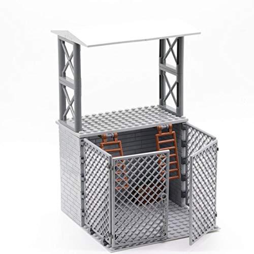 LALAmi Modelo de bloques de construcción, serie militar, simulación de campo de batalla de alambre de espino, modelo de construcción modular compatible con Lego