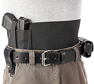 Daltech Force Safestcarry Belly Band Holster - CCW Concealed Carry Gun Holster and Mag Holster for Hips, Waist or Chest, Black