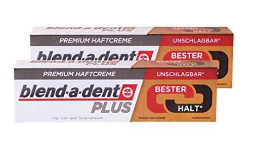 2x 40g blend-a-dent PLUS Premium Haftcreme - Geschmacksneutral - Duokraft