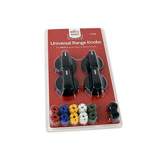 Smart Choice KNOBKIT4B Kit de pomos negro, se adapta a la mayoría de rangos y hornos