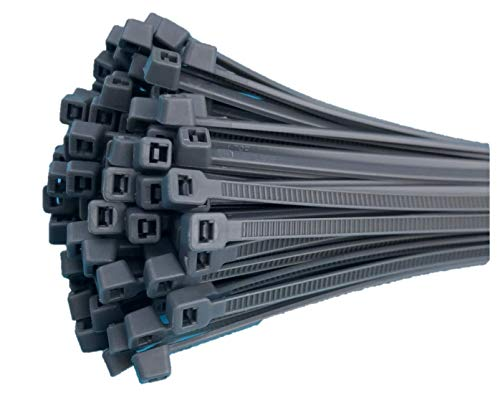 Fix&Easy Kabelbinder 2,5x100mm Silber grau anthrazit 100 Stück Set für Sichtschutz Windschutz Blickschutz Balkon