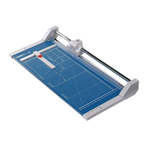 Dahle 552 Professional Rolling Trimmer 20' Cut Length 20 Sheet Capacity Self-Sharpening Automatic Clamp German Engineered Paper Cutter