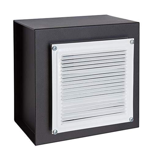 Arregui 13000W-S0 - Caja fuerte para empotrar camuflada detrás de una rejilla de ventilacion, 4L, 200x200x130mm, Negro