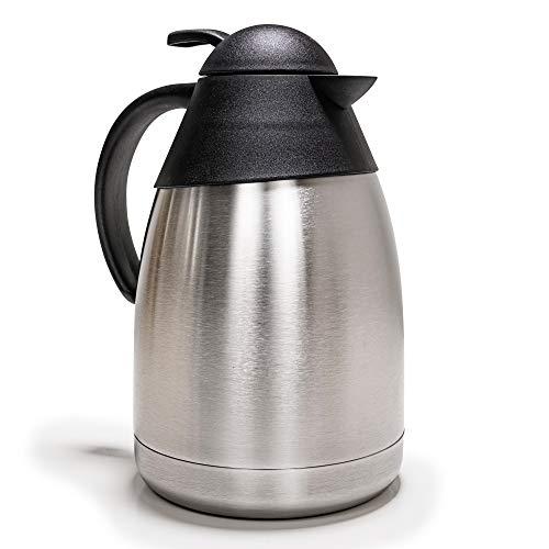 e-Best - Caraffa termica per caffè e tè, in acciaio INOX, 1,5 litri, 13,5 x 23 cm