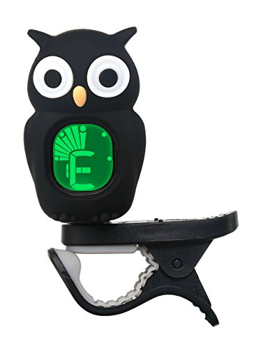 Afinador cromático de búho zepthus® Sintonizador Digital con 360Degree rotatation y pantalla LCD para acousticguitars, Banjo, ukelele, Violín, Bajo