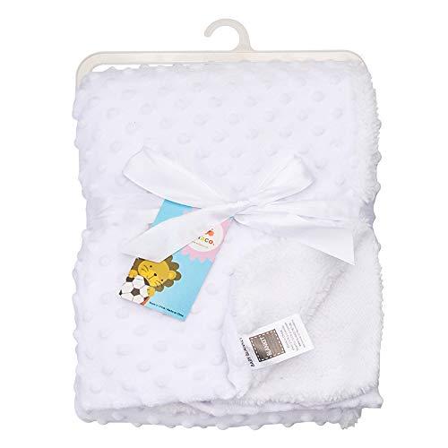 MXMA Ropa de cama para niñas Swaddle Wrap Cochecito Mantas para niños pequeños Ropa de cama Colcha Swaddling Recibir mantas de bebé Recibir Manta de bebé Mantas de bebé (blanco)