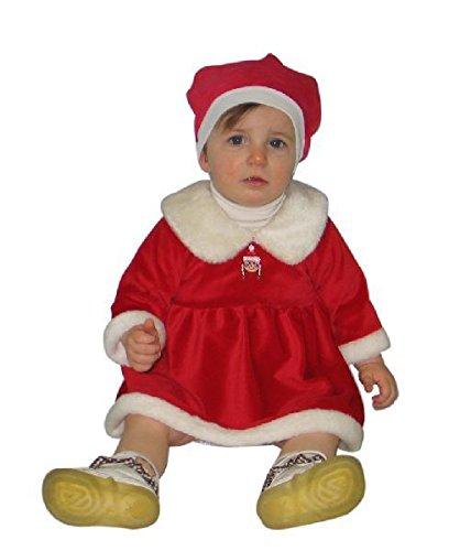 Sandy - Robe de Mère Noel pour Fille de 3/12 Mois