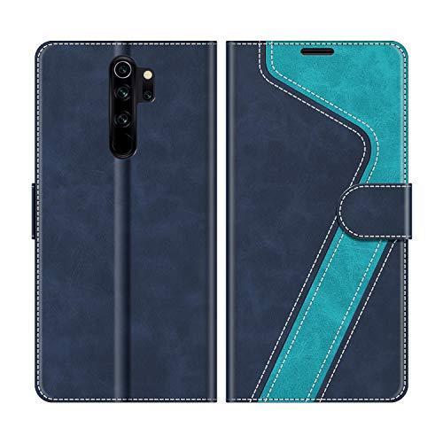 MOBESV Handyhülle für Xiaomi Redmi Note 8 Pro Hülle Leder, Xiaomi Redmi Note 8 Pro Klapphülle Handytasche Hülle für Xiaomi Redmi Note 8 Pro Handy Hüllen, Modisch Blau