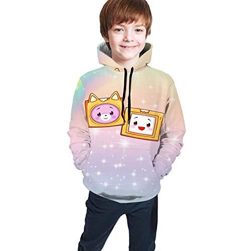 huatongxin Lankybox Merch Lankybox Boxy Stylish Unisex Hoodies for Kids 3D Prints Sweatshirts Pullover with Pocket