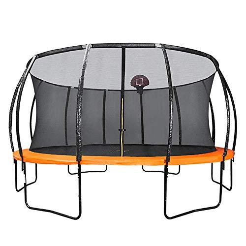 MU Trampolines for Kids 10Ft/12Ft/14Ft/16Ft with Enclosure Trampoline with Safety Enclosure Net Spring Cover Foam Frame Garden Outdoor,16Ft