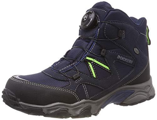 Dockers by Gerli Unisex-Kinder 43WR702 Hohe Sneaker, Blau (Navy 660), 33 EU