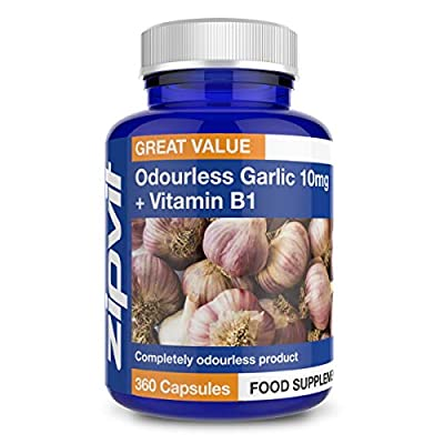 Garlic Odourless 10mg, Pack of 360 Softgels, by Zipvit Vitamins Minerals & Supplements from Zipvit