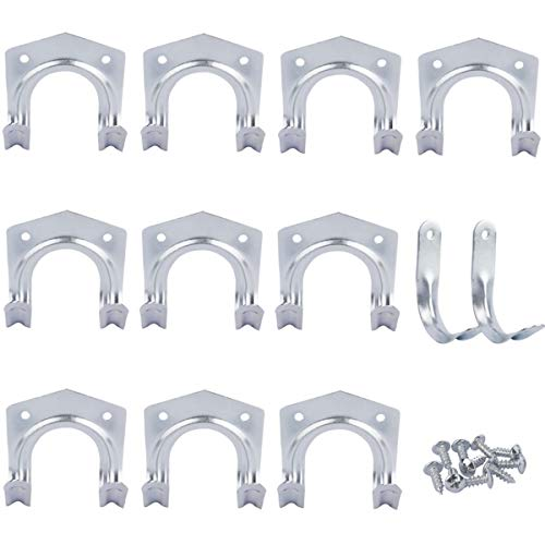 Wall Mounting Storage Tool Hooks, Heavy Duty Multi-Tool Hanger Hooks Set, Metal Anti-Slip Storage Hooks for Warehouse, Garage, Sheds, Garden & Offices (Pack of 12)