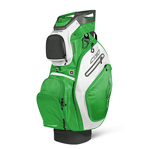 Sun Mountain 2018 C130 14-Way Golf Cart Bag, Gunmetal/Lime/White