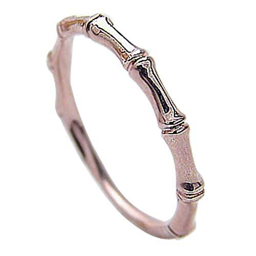 [ジュエリーアイ] ピンキーリング バンブーエタニティリング 竹指輪 ピンクゴールドK10 究極リング K10PG 9号