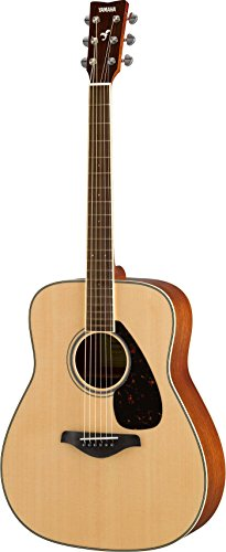 Yamaha FG820 Solid Top Folk Acoustic Guitar - Natural