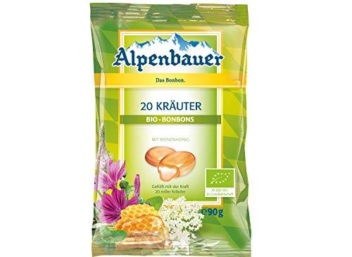 Alpenbauer Bio Bonbons mit Kräuter und Honig Geschmack 20 Kräuter 90g