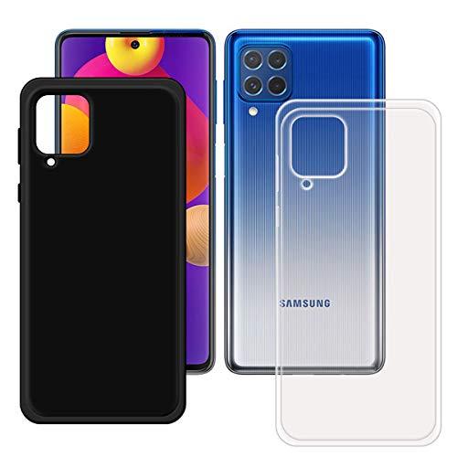 YZKJSZ Funda para Samsung Galaxy M62,Ultra Fina Silicona Trasparente + Negro Carcasa Anti-arañazos TPU Suave Caso Case Cover para Samsung Galaxy M62 (6.7')