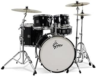 Gretsch Energy 5 Piece Drum Set w/ Hardware and Planet-Z Cymbals (Black)