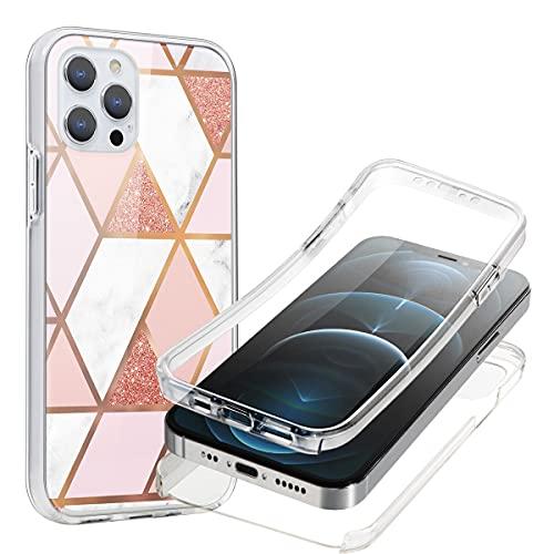 ZhuoFan Funda para Apple iPhone 5/5S 4,0 pulgadas, funda de protección de 360 grados, teléfono de protección completa, transparente, diseño a prueba de golpes, para smartphone