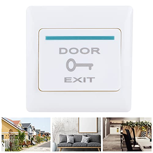 Botón de apertura de puerta, interruptor de entrada elástico ignífugo Sistema de control de acceso Material de PC luminoso 86 Instalación tipo para comunidades