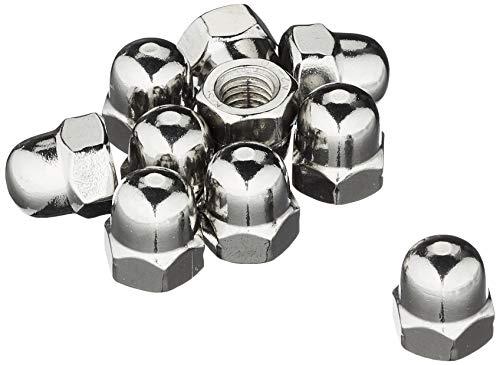 Sechskant-Hutmuttern-M8-Edelstahl-A2 DIN1587 Kappenmutter hohe Form; 25 Stück