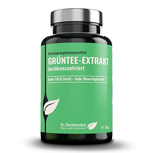 Dr.Fleckenstein Grüntee-Extrakt hochkonzentriert. Nahrungsergänzungsmittel mit EGCG & Piperin für eine gesunde Ernährung, entkoffeiniert, top Bioverfügbarkeit, magensaftstabil