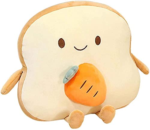Sliced Toast Bread Pillow - Bread Shaped Plush Sofa Cushion Stuffed Doll Toy - for Kids Adults Bed Room Decor-D.