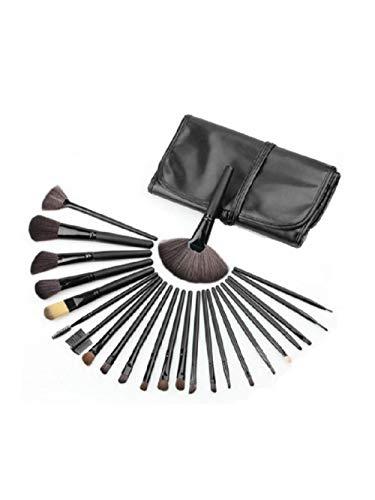 Fanxp® 24Pcs Maquillage Brush Set Délicat En Bois Doux Fibre Avec Brosse Sac-Noir