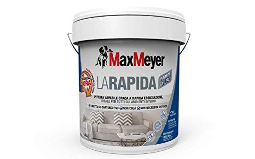 MaxMeyer Pittura per interni Lavabile La Rapida BIANCO 14 L