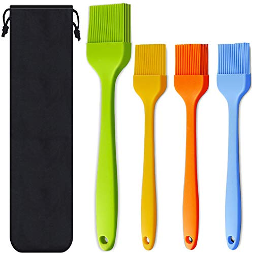 Silicone Heat Resistant Pastry Brushes, Set of 4