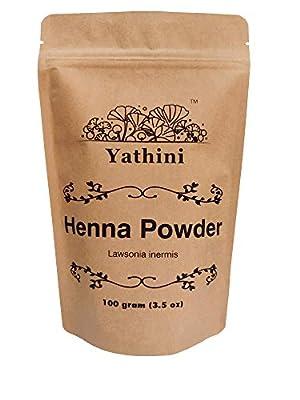 Yathini - Henna Powder 114gram/4oz | Lawsonia inermis leaf Powder | Mehndi | Hair Color | Origin: Rajasthan, India