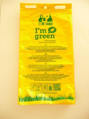 BELLOO Bio-Hundekotbeutel gelb - 50Stück